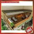 高級定製防晒遮陽雨門窗露臺鋁合金鋁制金屬耐力板棚蓬篷 3