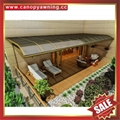 高级定制防晒遮阳雨门窗露台铝合金铝制金属耐力板棚蓬篷 3