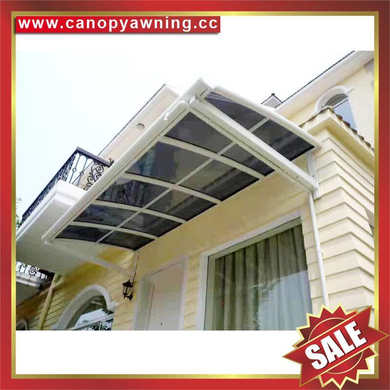 高级定制防晒遮阳雨门窗露台铝合金铝制金属耐力板棚蓬篷 5