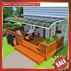 高级定制坚固耐用豪华别墅铝合金PC耐力板露台阳台阳光遮阳棚
