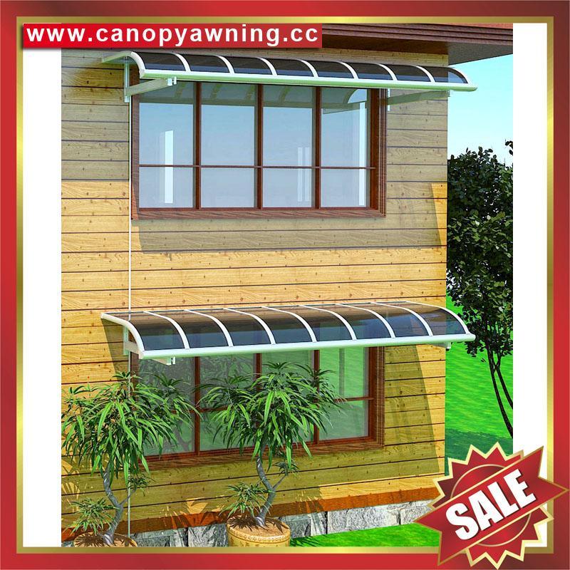 高级定制防晒遮阳雨门窗露台铝合金铝制金属耐力板棚蓬篷 6