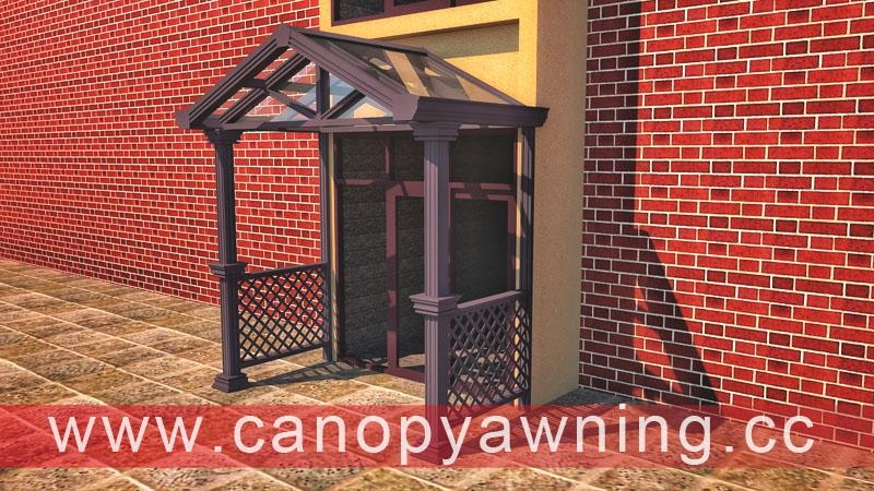 glass aluminum alu door window porch canopy awning canopies cover shelter