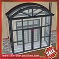 別墅鋁合金玻璃門廊遮陽擋雨房棚蓬篷