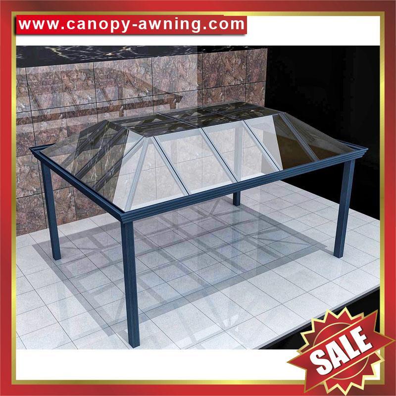 戶外鋁合金玻璃遮陽雨棚涼亭