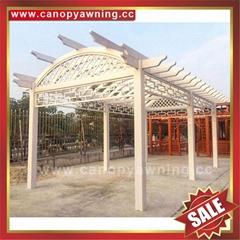 outdoor garden aluminum alu metal wood look gazebo pergola shelter kits