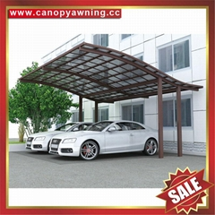 outdoor villa aluminum polycarbonate pc carport car shelter canopy awning