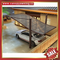 outdoor alu parking metal polycarbonate pc carport  car port shelter canopy