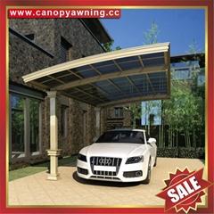優質耐用別墅花園遮陽擋雨鋁合金鋁制金屬耐力板車棚