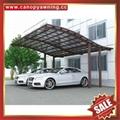 优质耐用别墅花园遮阳挡雨铝合金铝制金属耐力板车棚 6