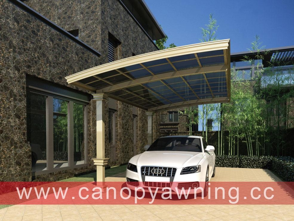 polycarbonate alu aluminum metal outdoor parking carport carports