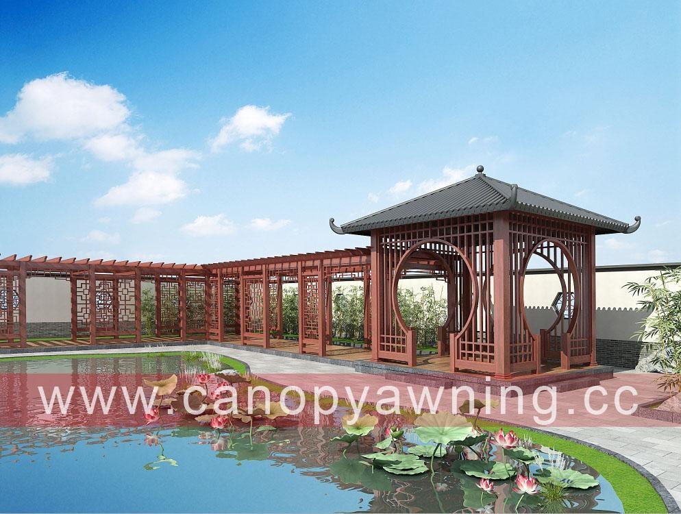 outdoor garden alu aluminum metal gazebo pavilion pergola canopy