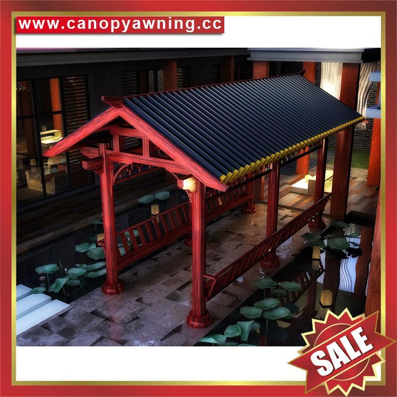 outdoor modern sunshade rain metal alu aluminum gazebo pavilion shed pergola 4