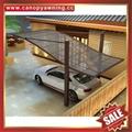 公園別墅小區廣場遮陽擋雨鋁合金鋁制金屬PC板雙位車棚蓬篷 7