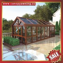 耐用花園酒店別墅透明玻璃金屬鋁合金鋁制露台陽光房子遮陽屋