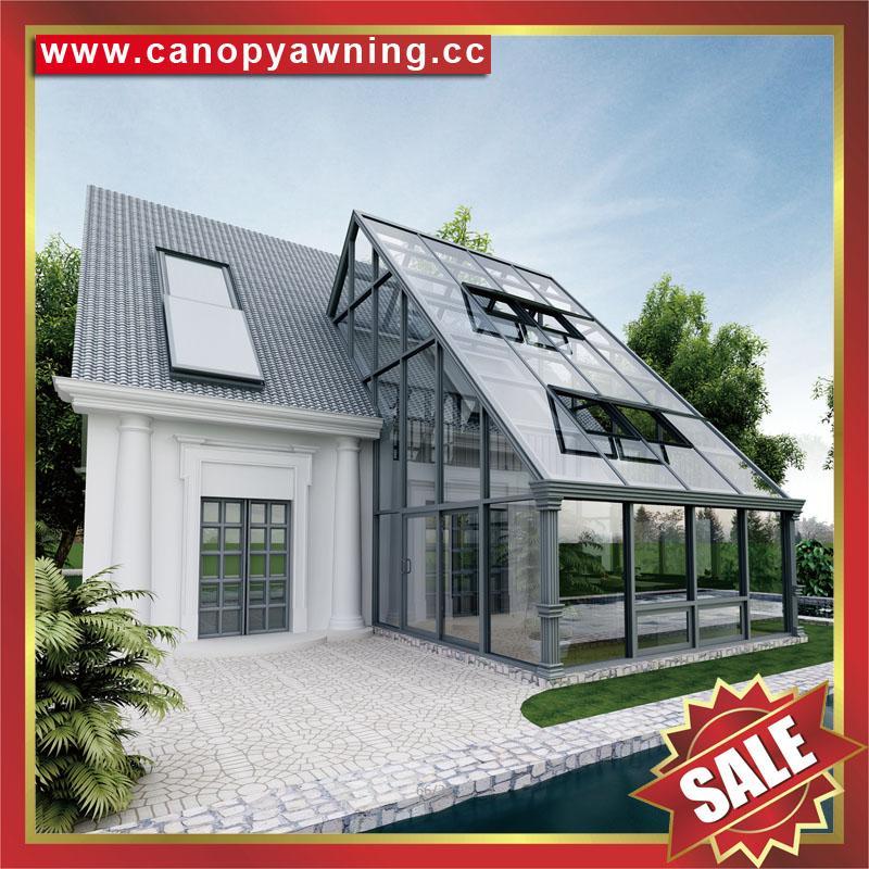 outdoor glass alu aluminum villa sunroom sun house kits manufacturers