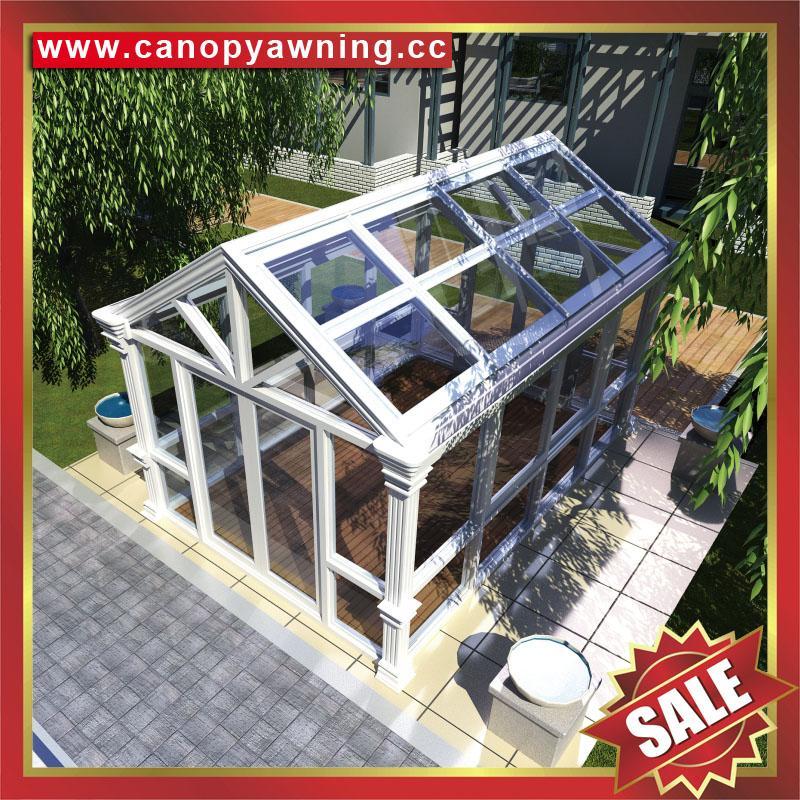 outdoor glass alu aluminum sunroom sun house room kits manufacturers