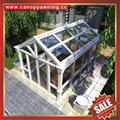 prefab aluminum glass enclosure sun room house for villa hotel building project