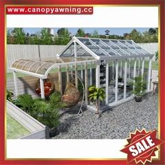天台陽台露台採光防風擋雨透明鋁合金鋁制玻璃陽光房溫室屋