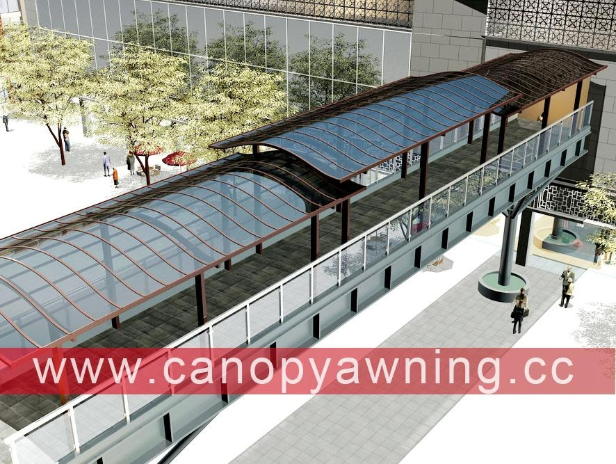 outdoor corridor passage walkway alu aluminum polycarbonate canopy shelter awning