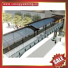 stairway walkway footway pavement polycarbonate aluminum canopy awning shelter