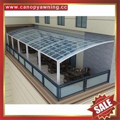别墅露台阳台天台铝合金铝制PC耐力板遮阳雨棚蓬篷