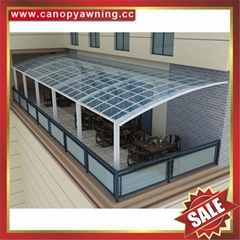 alu polycarbonate aluminum pc balcony terrace gazebo patio canopy awning cover