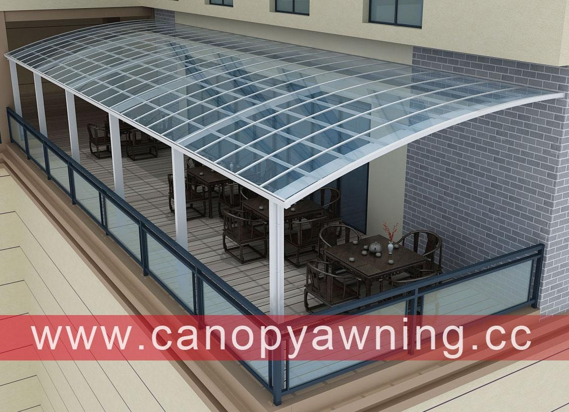 outdoor house balcony porch patio terrace alu aluminum polycarbonate canopy shelter awning cover