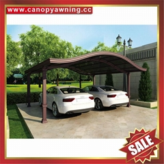 High quality durable Aluminum Carport polycarbonate outdoor Double car shelter