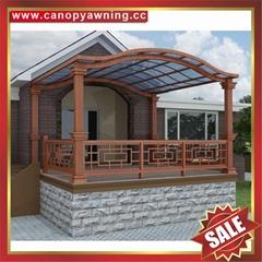 豪華土豪金鋁合金鋁制PC耐力板陽光露台門窗雨棚雨陽篷遮陽蓬