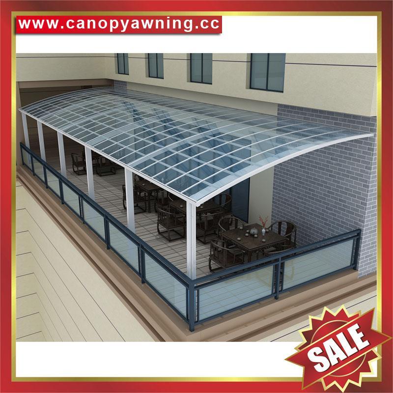 豪华土豪金铝合金铝制PC耐力板阳光露台门窗雨棚雨阳篷遮阳蓬 6