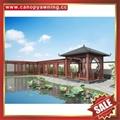 outdoor garden wood look metal aluminum gazebo pavilion canopy shelter awning 4