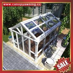 高級定製堅固耐用中式歐式鋼化玻璃金屬鋁合金鋁制陽光房溫室屋