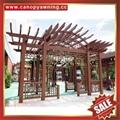 高級定製公園休閑休息中式仿古仿木金屬鋁合金鋁制葡萄架 5