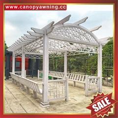 prefab classical new style aluminium metal garden grape vine trellis pergola