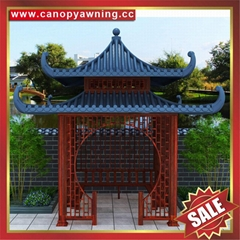 广东耐用西式中式仿古现代公园园林铝合金金属铝制遮阳凉亭厂家
