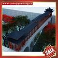 Prefabricated public chinese style aluminum alloy pavilion for garden hotel