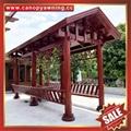 villa park garden wood style alu
