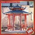 Prefabricated outdoor garden park villa metal aluminum gloriette pavilion kiosk 2