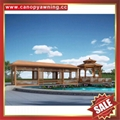 Prefabricated outdoor garden park villa metal aluminum gloriette pavilion kiosk 4