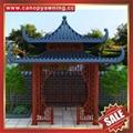 Prefabricated outdoor garden park villa metal aluminum gloriette pavilion kiosk 6