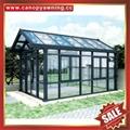 Outdoor garden gazebo patio solar aluminum glass sunroom sun house room cabin 6