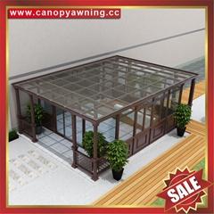 采光遮挡雨透明玻璃铝合金铝制阳光房温室屋露台花房