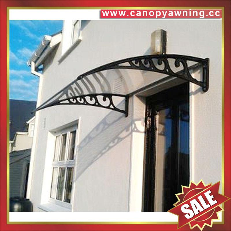 polycarbonate DIY door window pc awning canopy cover sunvisor shelter for house 1