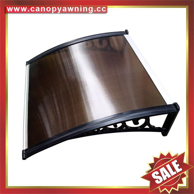 polycarbonate DIY door window pc awning canopy cover sunvisor shelter for house 2