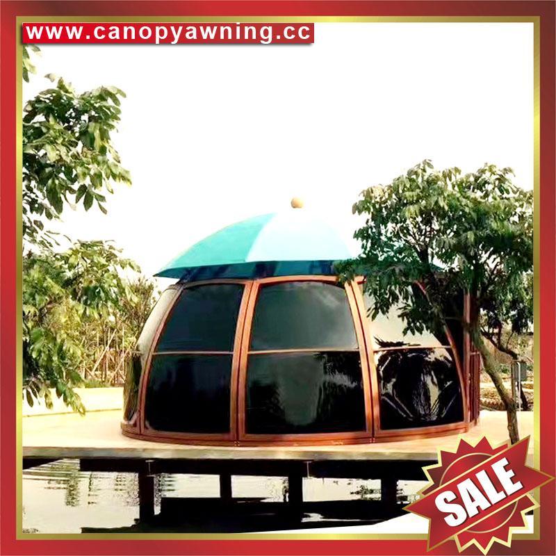 outdoor alu polycarbonate aluminum sunroom sun house room cabin dome tent gazebo 2