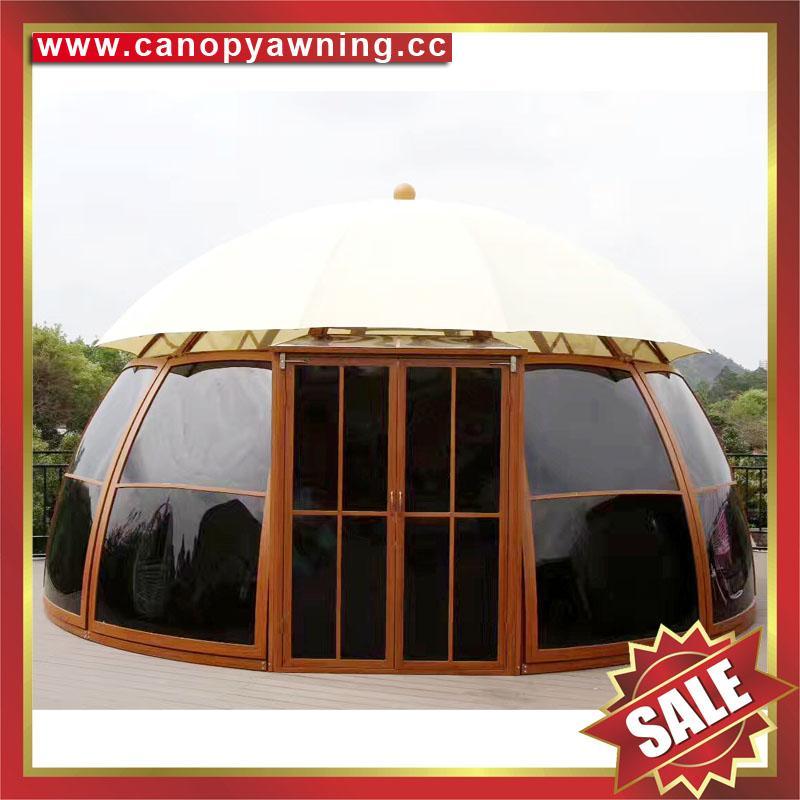 outdoor alu polycarbonate aluminum sunroom sun house room cabin dome tent gazebo 4
