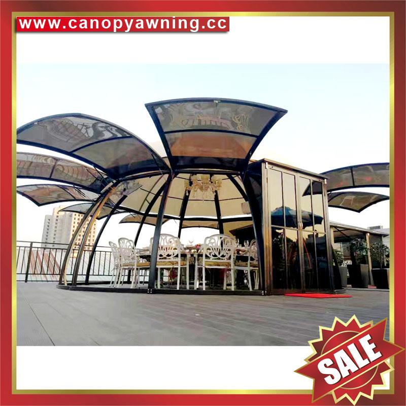 outdoor alu polycarbonate aluminum sunroom sun house room cabin dome tent gazebo 5