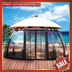outdoor alu polycarbonate aluminum sunroom sun house room cabin dome tent gazebo