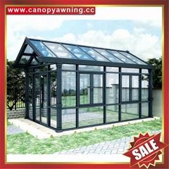 prefab modern new fashion aluminium alloy tempered glass sun house sunroom cabin