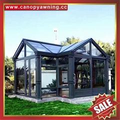 別墅酒店花園園林鋁制鋁合金透明透光隔音玻璃陽光房溫室屋